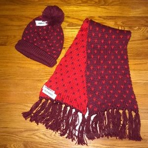 Old navy knit scarf and hat set